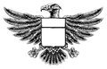 Woodcut Eagle Shield Royalty Free Stock Photo