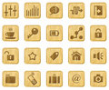 Woodcut icon set Royalty Free Stock Photography
