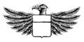 Woodcut Shield Eagle Royalty Free Stock Photo