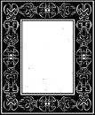 Woodcut style celtic border in a frame Royalty Free Stock Images