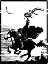 Headless Horseman Woodcut Royalty Free Stock Photo