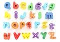 Wooden alphabet Royalty Free Stock Photo