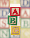 Wooden alphabet blocks Royalty Free Stock Photography
