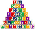 Wooden Alphabet Blocks/eps Royalty Free Stock Photo