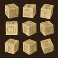 Wooden alphabet blocks Royalty Free Stock Photo