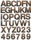 Wooden alphabet set Stock Photo