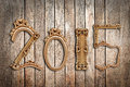 2015, wooden antique frames Royalty Free Stock Photo