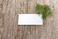 Wooden background with empty white card Royalty Free Stock Photo