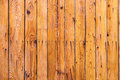 Wooden background fence orange with nails Royalty Free Stock Photography