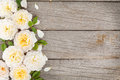Wooden Background With Fresh R...