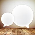 Wooden background with speech bubbles eps this is editable vector illustration Royalty Free Stock Images