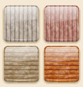 Wooden backgrounds for the app icons illustration Royalty Free Stock Photos