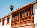 Wooden balcony Royalty Free Stock Image