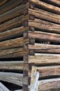 Wooden balk corner detail 2 Royalty Free Stock Photos