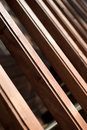 Wooden bannister Stock Photography