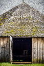 Wooden barn old in the country Stock Photo
