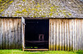 Wooden barn old in the country Stock Image