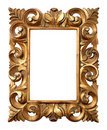 Wooden Baroque Frame Royalty Free Stock Image