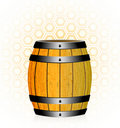 Wooden barrel with honey Stock Images