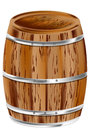 Wooden barrel isolated on a white background Royalty Free Stock Photos