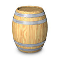 Wooden barrel with steel ring Royalty Free Stock Photography