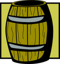 Wooden barrel vector illustration Stock Photography
