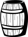 Wooden barrel vector illustration Stock Image