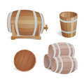 Wooden barrel vintage old style oak storage container and brown isolated retro liquid beverage object fermenting
