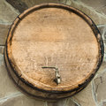 Wooden  barrel. Royalty Free Stock Photo