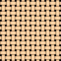 Wooden basked weave Stock Images