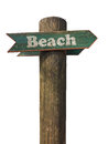 Wooden Beach Sign Royalty Free Stock Photo