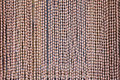 Wooden bead curtain Royalty Free Stock Photo