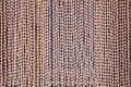Wooden bead curtain Royalty Free Stock Photo