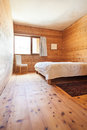 Wooden bedroom interior new house view of the Royalty Free Stock Photos