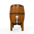 Wooden beer cask isolated on white background d render Royalty Free Stock Images