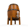 Wooden beer cask isolated on white background d render Stock Image