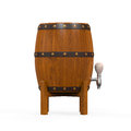 Wooden beer cask isolated on white background d render Royalty Free Stock Photos