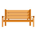 Wooden bench isolated illustration on white background Royalty Free Stock Photos