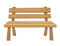 Wooden bench isolated illustration on white background Stock Photography