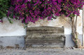 Wooden bench in the old town Royalty Free Stock Photo