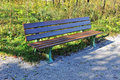 Wooden bench in the park Royalty Free Stock Photography
