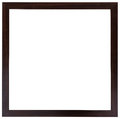 The wooden black frame. Flat design. Royalty Free Stock Photo
