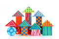 Wooden block houses Stock Image