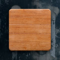 Wooden board on a grunge background Royalty Free Stock Photo