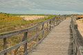 Wooden board path way to the beach sandy Stock Photography