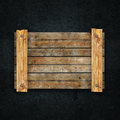 Wooden board on wall background Royalty Free Stock Photography