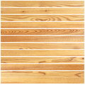 Wooden boards forming parquet design isolated over white background Royalty Free Stock Image