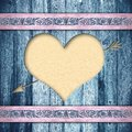 Wooden boards with heart Stock Image