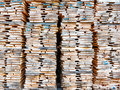Wooden boards stack of at the lumber yard Stock Photography
