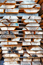 Wooden boards stack of planks at the lumber yard Stock Photography